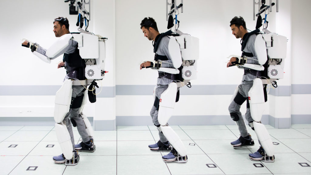 Thought driven exoskeleton