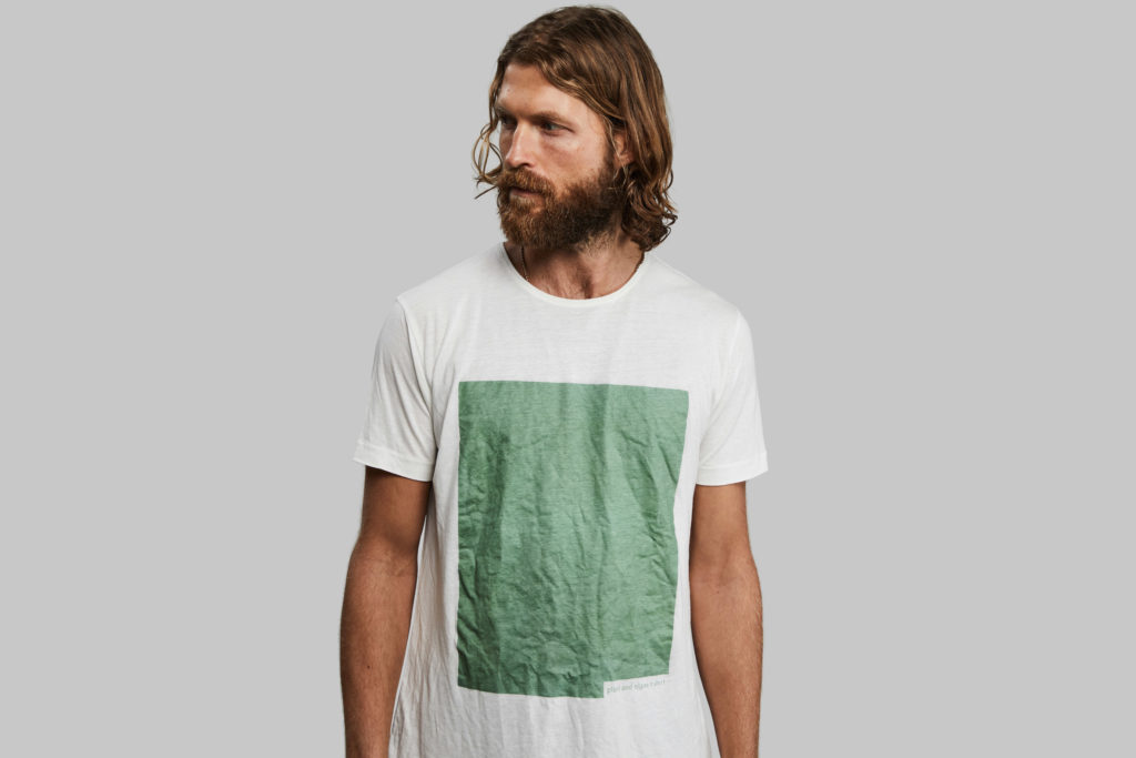 T-shirt made of wood and algae